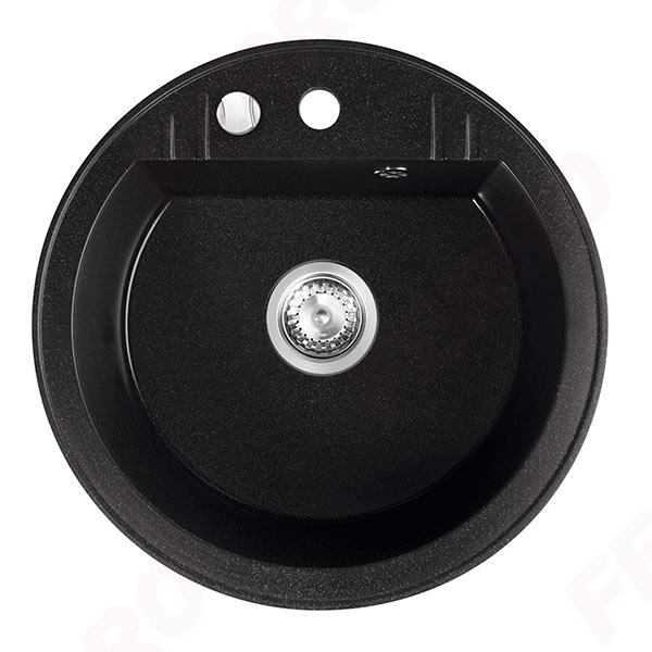 Chiuveta granit 1 cuva rotunda 510mm  MEZZO II, grafit 0