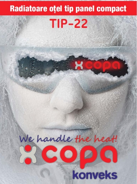 Radiator panou compact otel, Copa Konveks Tip 22 600 x 1200 1