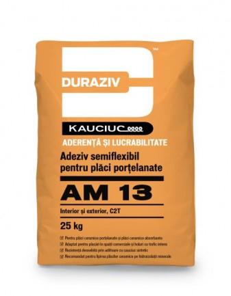 DURAZIV AM 13 Adeziv semiflexibil pentru plăci porțelanate, aditivat cu Kauciuc 0
