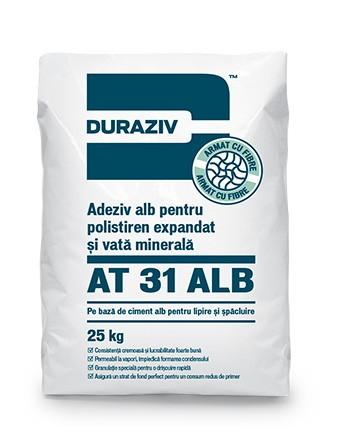 DURAZIV AT 31 ALB Adeziv alb pentru polistiren expandat şi vată minerală 0