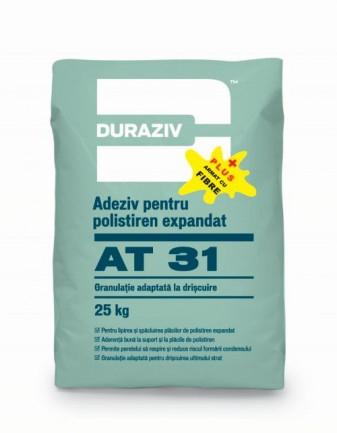 DURAZIV AT 31 PLUS Adeziv și masă de şpaclu pentru polistiren expandat cu fibre de armare 0
