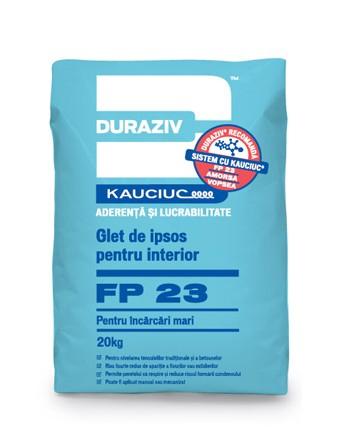 DURAZIV FP 23 Glet de ipsos pentru interior pentru încărcări mari, aditivat cu Kauciuc [0]