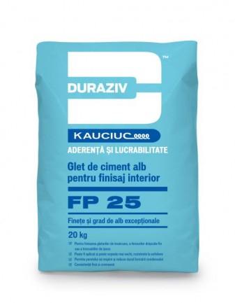 DURAZIV FP 25 Glet de finisare pe bază de ciment alb, aditivat cu Kauciuc 0