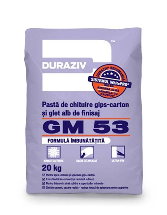 DURAZIV GM 53 Pastă de chituire gips-carton și glet alb de finisaj 0