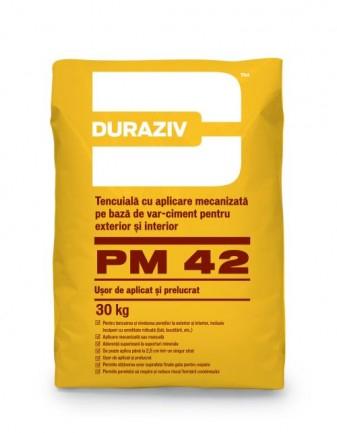 DURAZIV PM 42 Tencuială pe bază de var-ciment 0