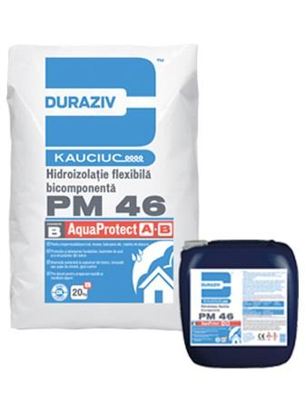DURAZIV PM 46 Hidroizolaţie bicomponentă flexibilă, aditivată cu Kauciuc® [0]