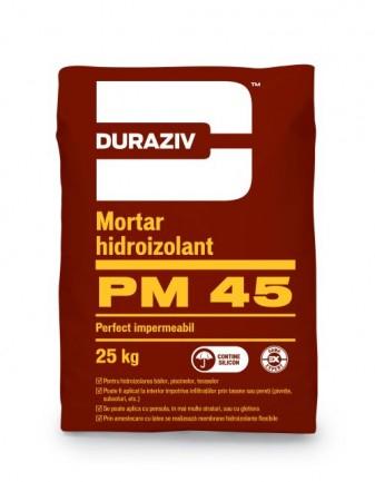 DURAZIV PM 45 Mortar hidroizolant monocomponent, aditivat cu silicon 0