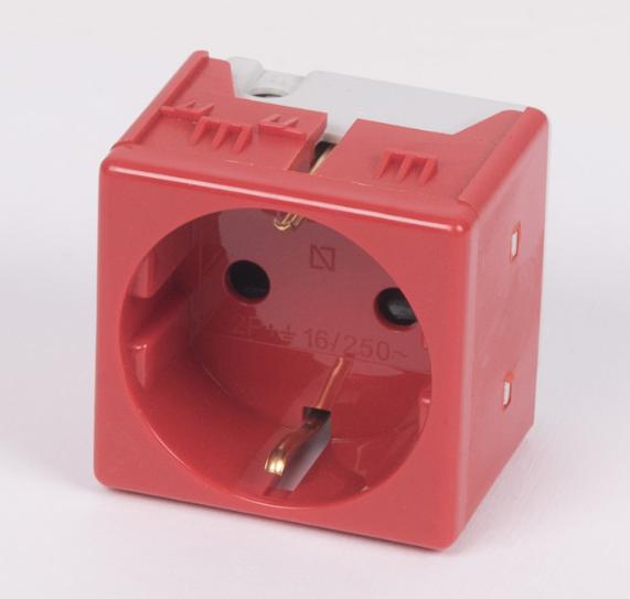 GW20297 - Priza suko standard german culoare rosie 0