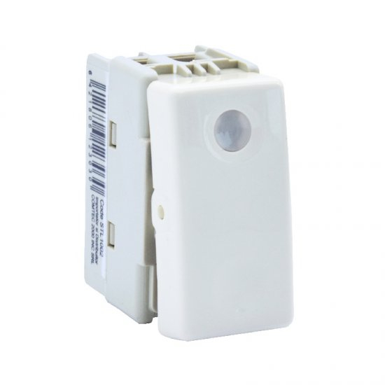 INTRERUPATOR MODULAR SIMPLU CU LED - ALB 1002 STIL 0
