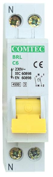 Siguranta automata 1P+N 16A 4,5kA Comtec MF0001-16838 0