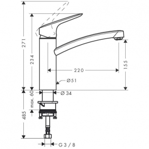 Baterie bucatarie Hansgrohe Logis 160 [1]