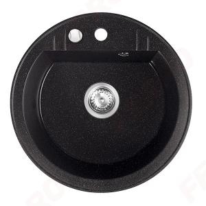 Chiuveta granit 1 cuva rotunda 510mm  MEZZO II, grafit shine0
