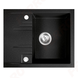 Chiuveta granit 1 cuva si storcator 48x58  MEZZO II, grafit shine0