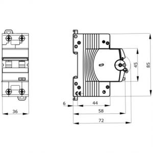 DIFERENTIAL 10A 1P+N C 30MA 4,5KA GEWISS GW94006 [1]