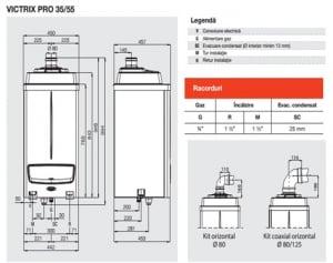 Centrale termice condensare incalzire, IMMERGAS – Victrix Pro 55kW1