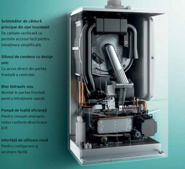 VAILLANT ecoTEC pure VUW 236/7-2, 20,2 kW centrala termica in condensatie - Incalzire + A.C.M. 1