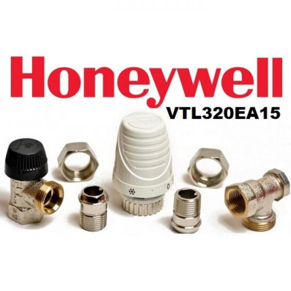 Set robinet cu cap termostatic Thera4 si retur 1/2 Honeywell - VTL320EA15 0