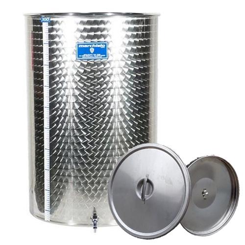 Cisterna inox Marchisio SPO80, 80 litri, capac flotant cu ulei de parafina, 384x750 mm [0]
