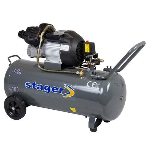 Compresor cu piston Stager HM3100V, 100 L, 8 bar, 356 l/min, 3 CP, monofazat [0]