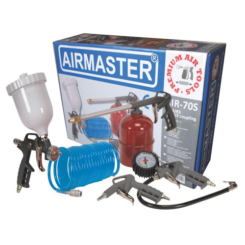 Compresor cu piston Airmaster AIR2SHU824-AIR-70S, 24 L, 8 bar, 206 l/min, 2 CP, monofazat + Kit 5 accesorii [2]