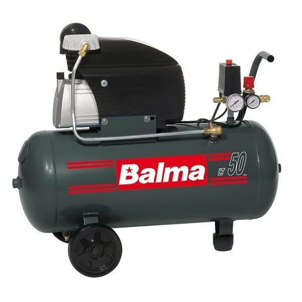 Compresor cu piston Balma MS20/50, 50 L, 8 bar, 222 l/min, 2 CP, monofazat [0]