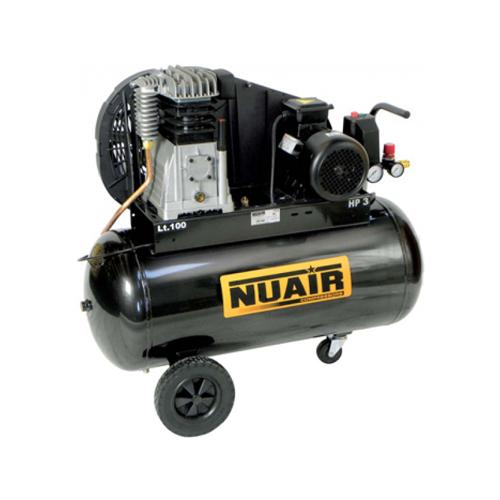 Compresor cu piston Nuair NUB B3800B/100 CT3, 100 L, 10 bar, 390 l/min, 3 CP, trifazat [0]