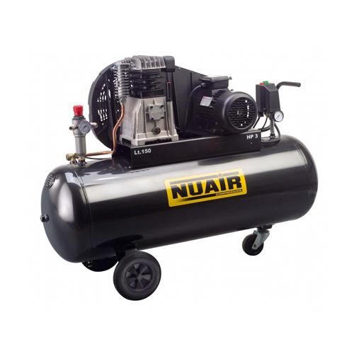 Compresor cu piston Nuair NUB B3800B/150 CT3, 150 L, 10 bar, 390 l/min, 3 CP, trifazat [0]