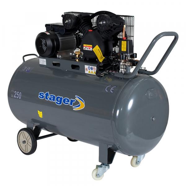 Compresor cu piston Stager HMV0.25/250, 250 L, 8 bar, 250 l/min, 3 CP, monofazat [0]