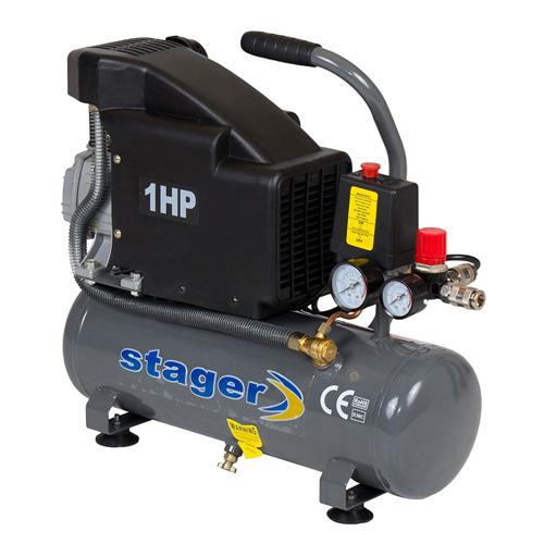 Compresor cu piston Stager HM1010K, 6 L, 8 bar, 126 l/min, 1 CP, monofazat [0]