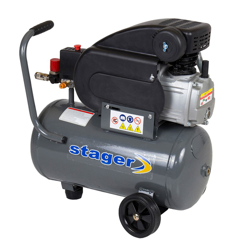 Compresor cu piston Stager HM2024F, 24 L, 8 bar, 200 l/min, 2 CP, monofazat [1]