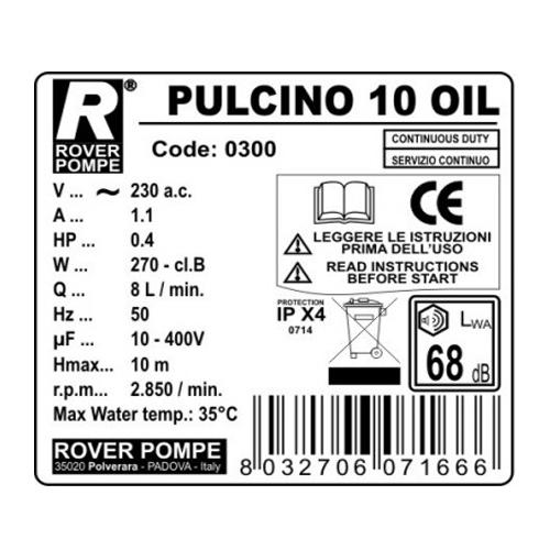 Filtru de ulei ROVER PULCINO 10 OIL, 10 placi, 100-150 L/h [1]