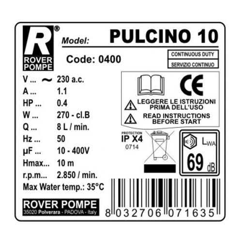 Filtru de vin Rover PULCINO 10, 10 placi, 120-160 L/h [1]