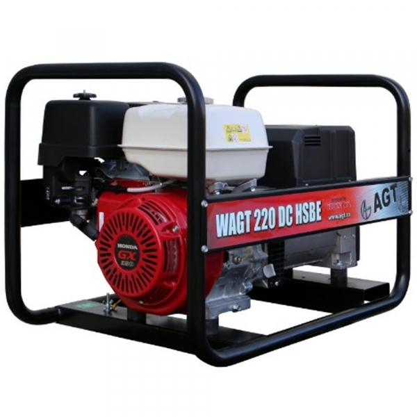 Generator de sudura trifazat AGT WAGT 220 DC HSBE, 6.5 kVA, 220 A 0