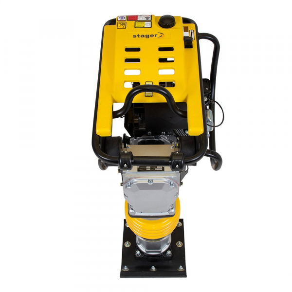 Mai compactor Stager SG80LC, Loncin LC168F, 4.1 CP, benzina, 13 kN, 70 kg [3]