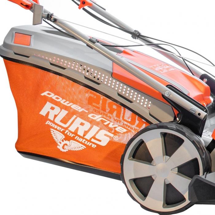 Masina de tuns gazon Ruris RX333S, 3 CP, 46 cm, 65 L, autopropulsata 6