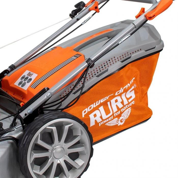 Masina de tuns gazon Ruris RX500S, 5.7 CP, 53 cm, 65 L, autopropulsata, variator viteza 5