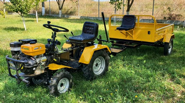 Mini tractor ProGARDEN Campo 1856-4WD, 4x4, 18 CP, benzina, 4+1 viteze [8]