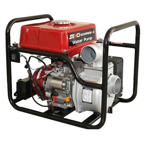 """Motopompa apa curata Senci SCWP-80E, 7.5 CP, benzina, 1000 l/min, Hmax. 30 m, 3"""", pornire electrica 1"""