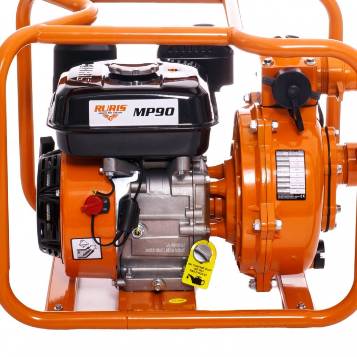 "Motopompa de presiune Ruris MP90, 2"", 7 CP, benzina, 500 l/min, Hmax. 65 m 2"