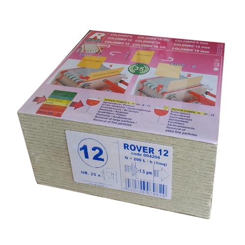 Set 25 placi filtrante 20x20 cm ROVER 12, clarifiere medie usoara [0]