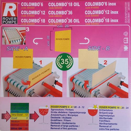 Set 25 placi filtrante 20x20 cm ROVER 16, clarifiere medie 1