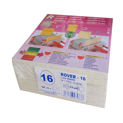 Set 25 placi filtrante 20x20 cm ROVER 16, clarifiere medie 0
