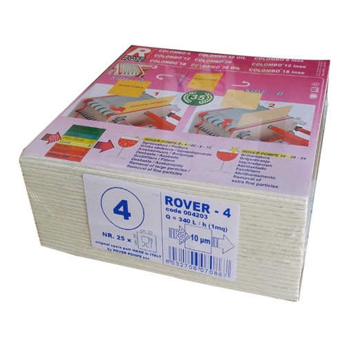 Set 25 placi filtrante 20x20 cm ROVER 4, degrosare medie [0]