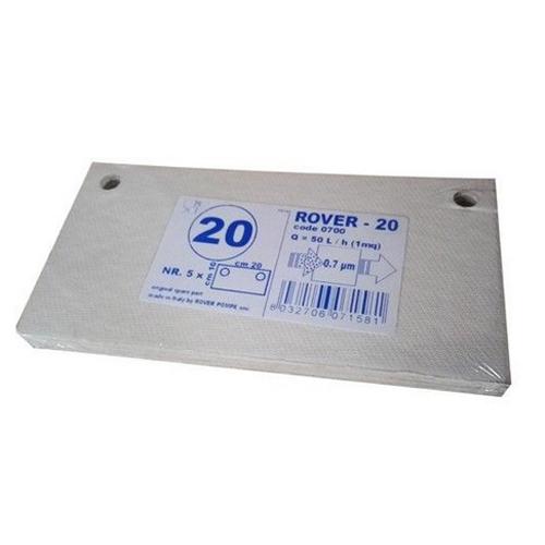 Set 5 placi filtrante 20x10 cm ROVER 20, filtrare fina [0]