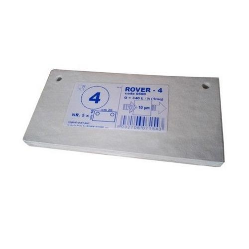 Set 5 placi filtrante 20x10 cm ROVER 4, degrosare medie [0]