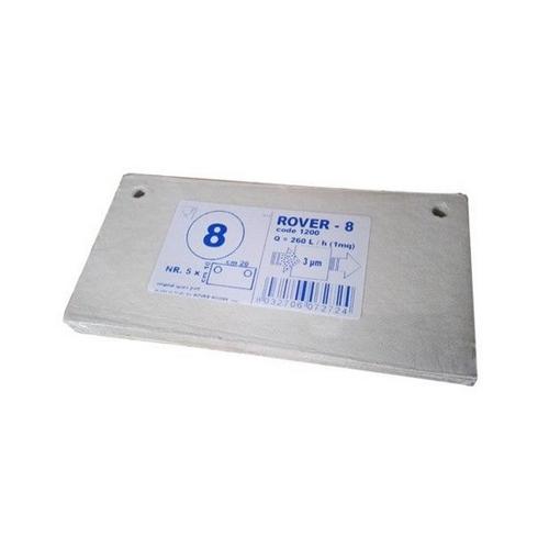 Set 5 placi filtrante 20x10 cm ROVER 8, degrosare de clarifiere [0]