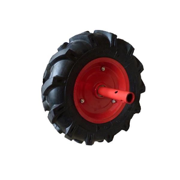 Set roti de cauciuc Szentkiraly 4.00-8, ax cilindric 24 mm, cu clichet 3