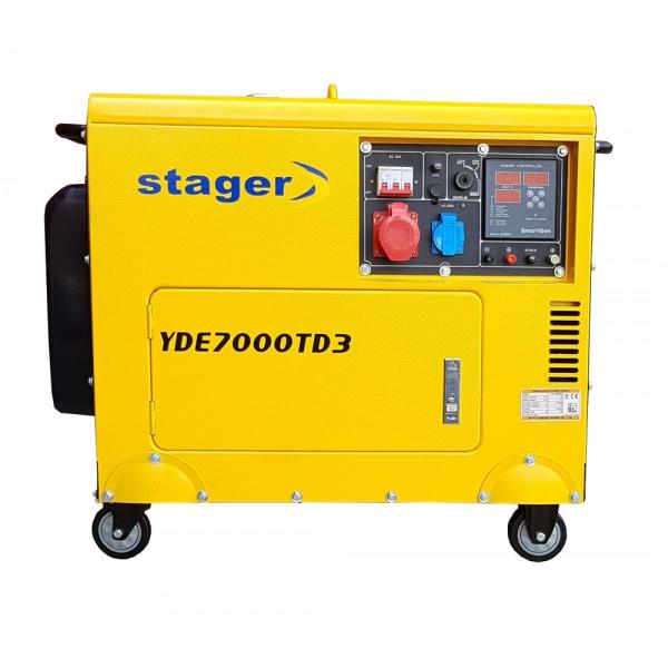 Stager YDE7000TD3 Generator insonorizat diesel trifazat 5.2kVA, 8A, 3000rpm [0]