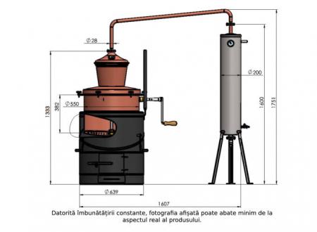 Cazan pentru tuica, cu amestecator Des BASCULANT 100 litri [13]
