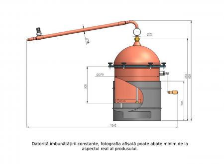 Cazan pentru tuica, cu amestecator Des HOBBY 35 litri, focar pe gaz [6]